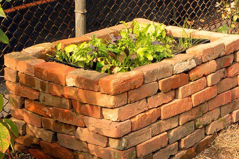 Brick Raised Bed Frame